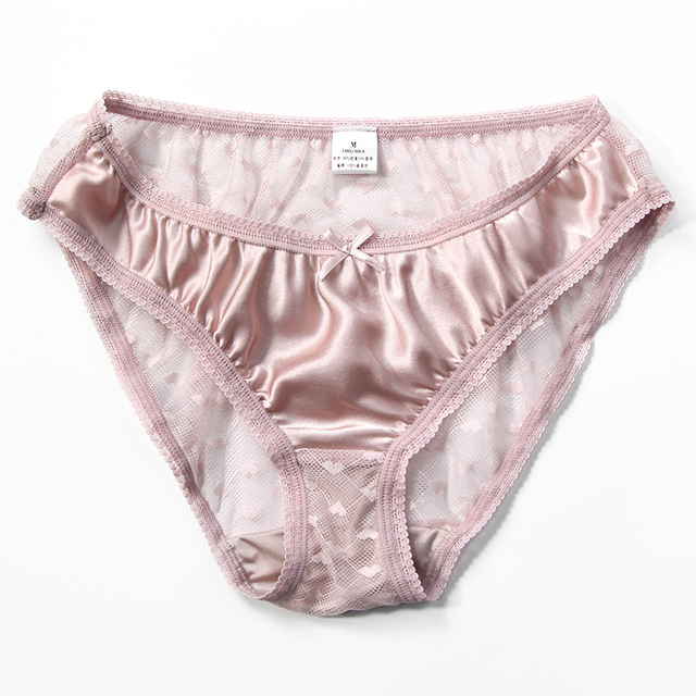 2pcs/lot New Natural silk briefs lingerie underwear women transparent seamless lace sexy panties bragas mujer panty calcinhas