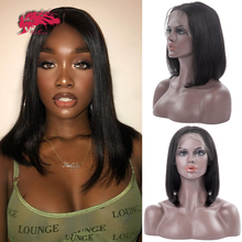 Braziliaanse Straight Korte Pruiken Voor Vrouwen Mid Lengte Goedkope Kant Deel Pruik Zwart En Blond 613 Kleur Remy Menselijk Haar lace Front Pruik
