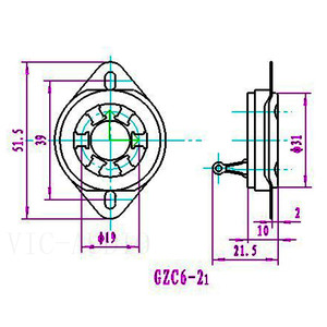 Image 5 - DIY אודיו 2PCS 6 סיכות אלקטרוני צינור שקע עבור VT57 VT58 6D6 6C6 WE310 310A RK49 צינור ואקום שקע מגבר HIFI DIY