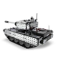 952 pçs 2.4g rc tanque militar conjunto de montagem diy aço inoxidável controle remoto modelo brinquedo embutido 3.7 v 300 mah bateria lítio