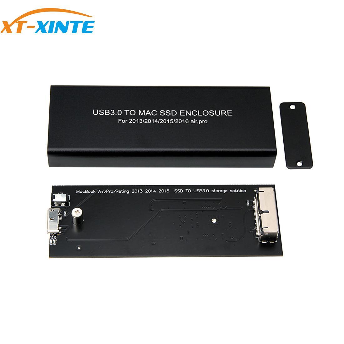 For Macbook Air Pro Retina 2013 2014 2015 2016 2017 Hard Disk Box A1466 A1465 A1398 A1502 USB 3.0 for Mac SSD Enclosure HDD Case(China)