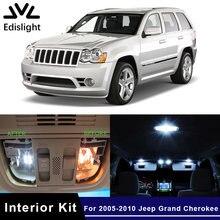 Edis светильник 14 шт. белый лед синий светодиодные лампы Canbus автомобильные лампы внутренняя посылка комплект для 2005-2010 Jeep Grand Cherokee купол багаж...