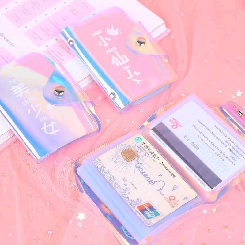 Mu تشى هيي الإبداعية الليزر المحفظة الكورية نماذج Harajuku حامل بطاقة قصيرة المرأة المحفظة بطاقة بت أكثر حافلة المحفظة