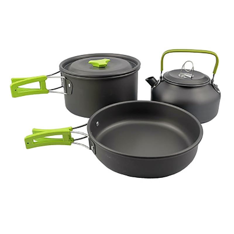 2-3 people picnic stove teapot set portable camping picnic pot outdoor cooker