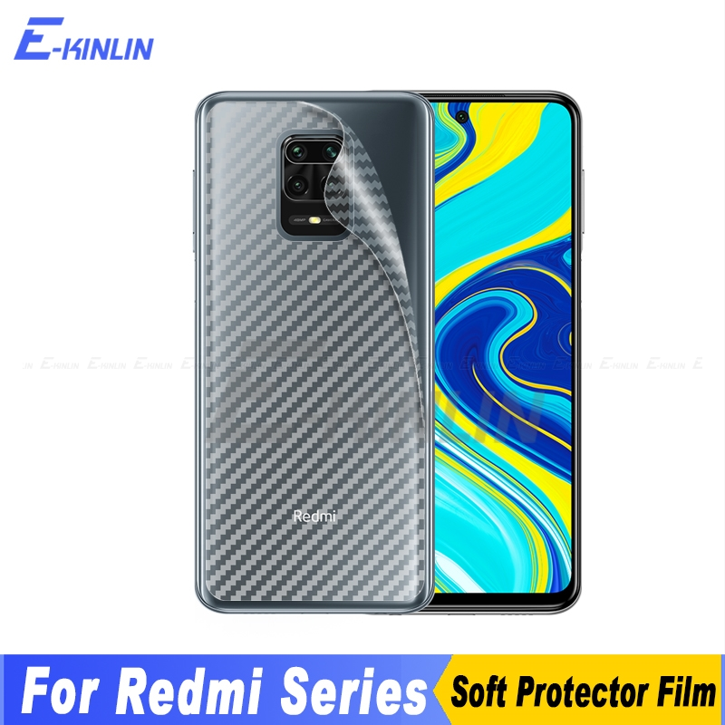 3D Carbon Fiber Back Cover Screen Protector For Xiaomi Mi 10 9 8 6 Redmi Note 8T 7 Pro 9S Max Sticker Protective Film Not Glass(China)
