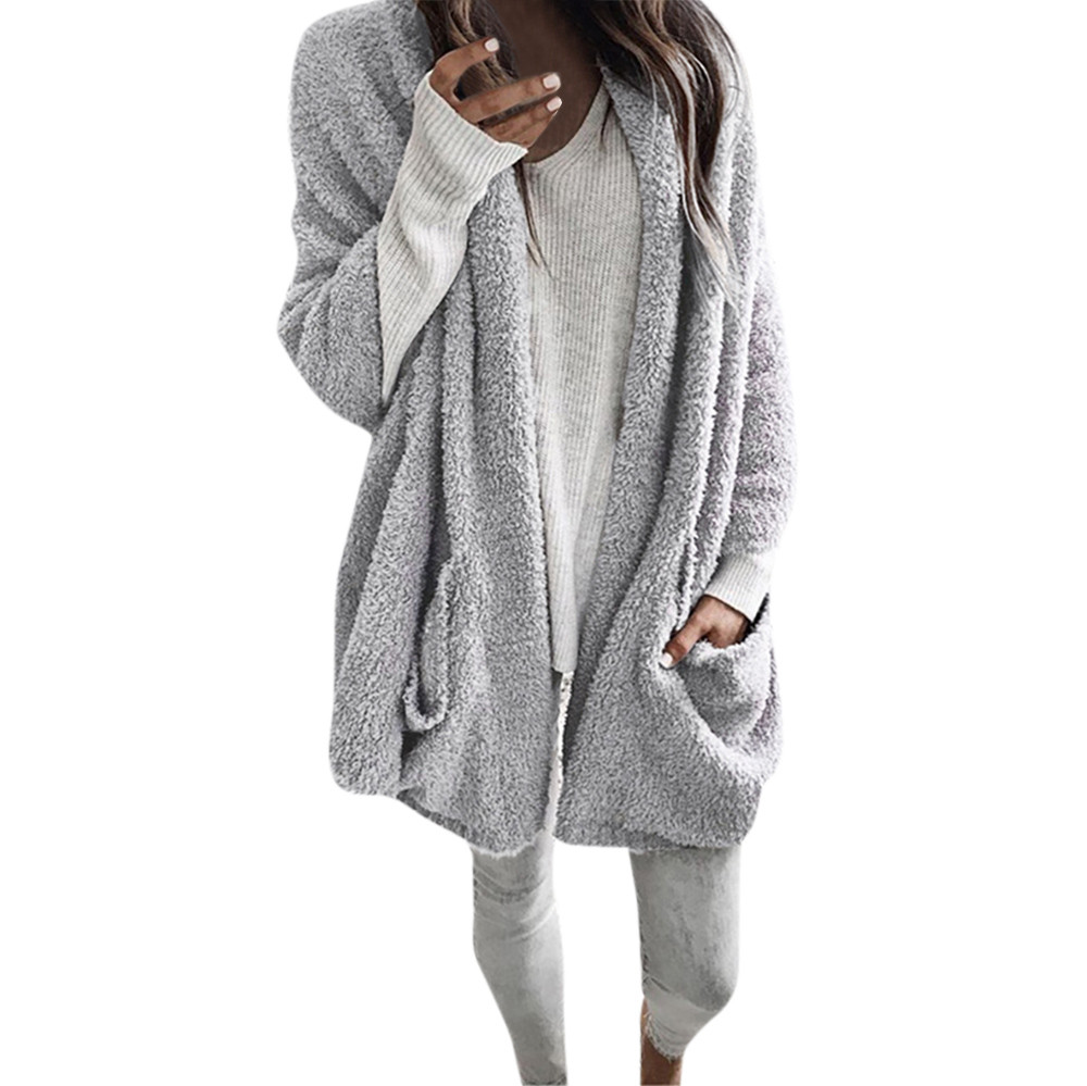 Coat women's sweatshirt худи hoodies толстовки Loose sports Leisure Autumn Long Sleeve Thick Hooded Open Stitch Cardigan h4