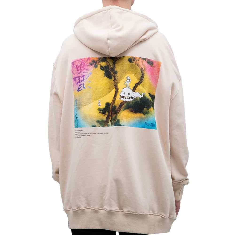 Kanye West Graffiti Brief Print Zwaargewicht Sweatshirt Lucky Me Zie Ik Spoken Mannen Hoodie Hip Hop Hooded Hoodies