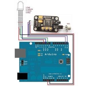 Image 4 - Controle Duurzaam Spraakherkenning Module Universele Jumper Draad Black Speech Met Microfoon Gereedschap Hoge Gevoeligheid Voor Een Rduino