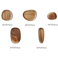 Master Star Irregular Acacia Wood Plate Special-shaped Solid Wood Tray Sushi Cake Plate Wooden Kitchen Plate