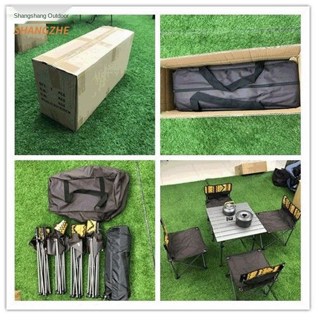 Outdoor Folding Camping Table Chair Set  5