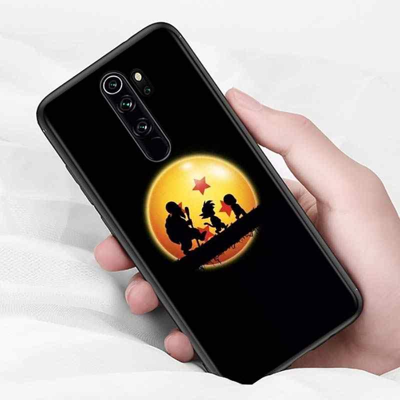 Xiaomi Redmi için not 9 9S Max telefon kılıfı Dragon Ball Goku geri Xiaomi 8T 8 7 6 5 Pro 5A 4X 4 siyah telefon kapağı