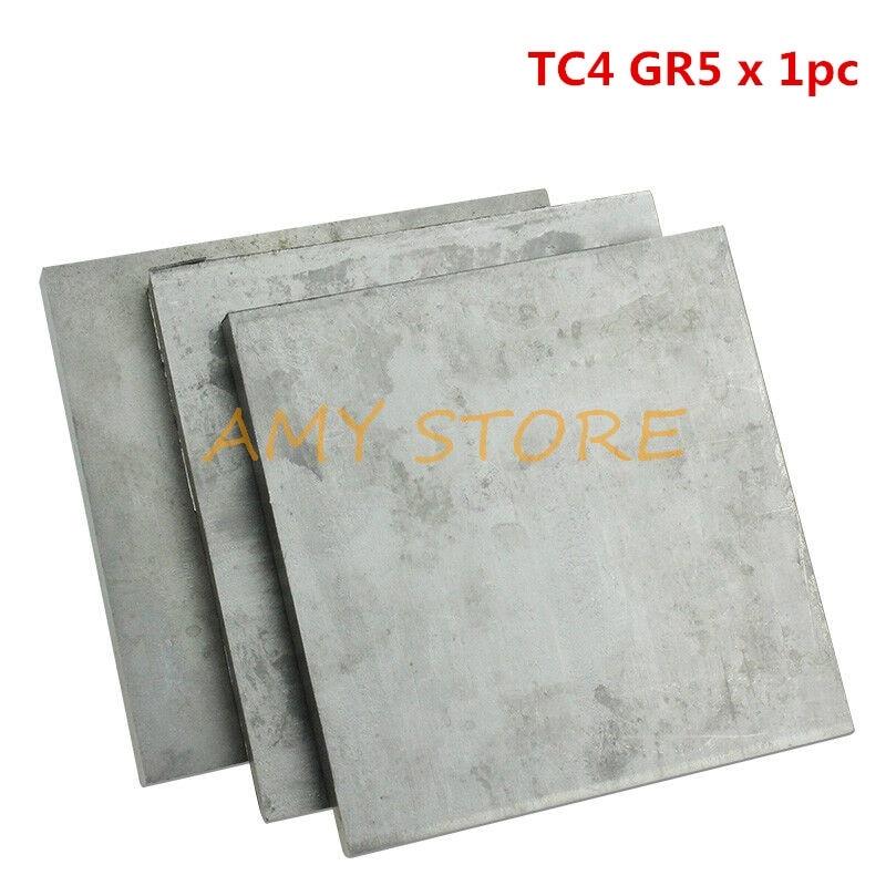 1Pc Titanium Titan Ti Alloy Plate 0.3 0.4 0.5 0.8 1.0 1.2 1.5 2 2.5 3 3.5 4mmThickness TC4/GR5 Ti Sheet Plate 100x100mm200x200mm