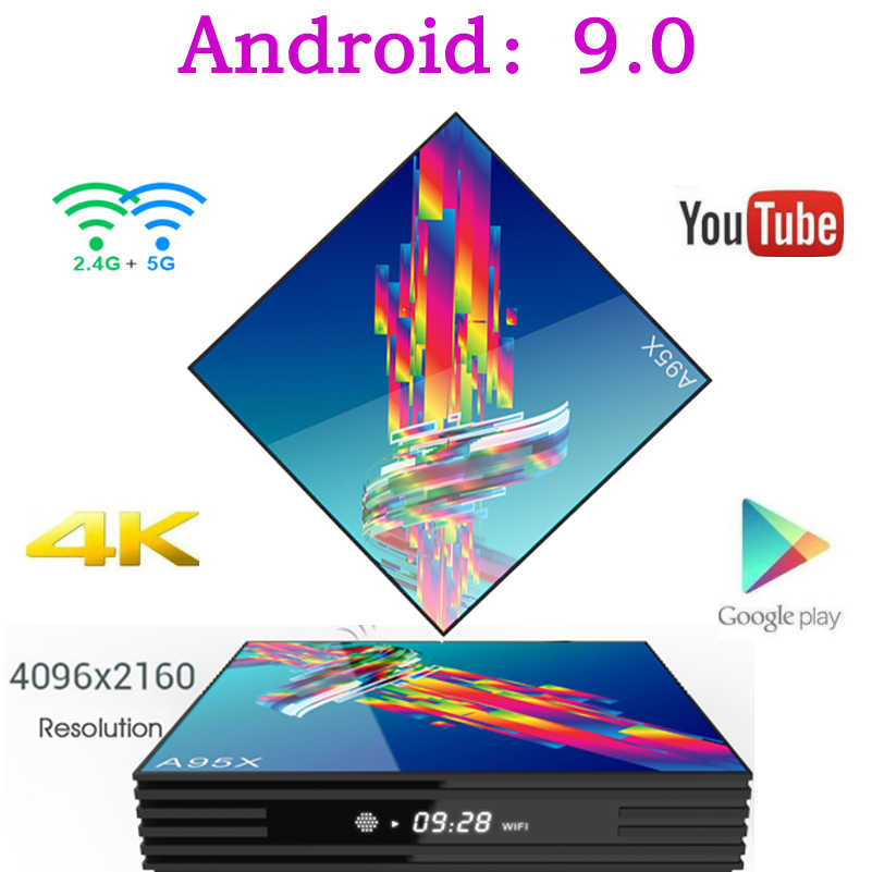A95X R3 Smart Tv Box Android 9.0 Caixa de Tv Set Top Box 4K 3D mi ni 2gb 4gb gb 64 32gb Quad Core media player PK X96 HK1 Max mi IPTV