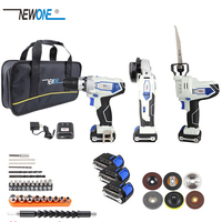 NEWONE 12V Cordless Combo Kit Lithium Ion Drill Electric with Grinder Grinding for DIY Home Power Tool Sets