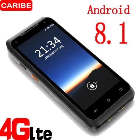 caribe novo android 8 1 pda aspero handheld terminal coletor de dados sem fio 1d