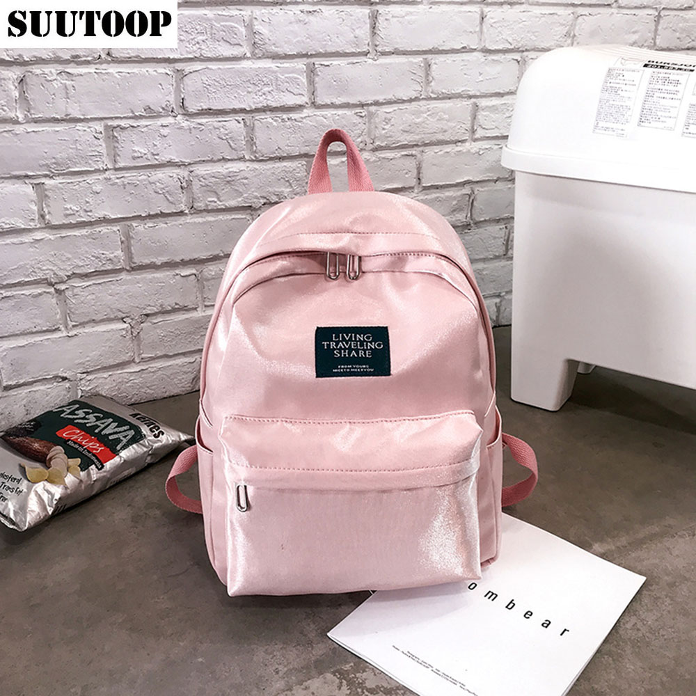 New Nylon Schoolbags Cool Women Backpack Fashion Large Book Bags For School Female Bag Pack Mochila Outdoor Travel Backpack 2019