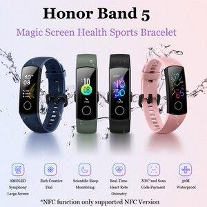 Image 5 - Originele Huawei Honor Band 5 Smart Polsband Oximeter Touch Screen Magic Kleur Zwemmen Detecteren Hartslag Slaap Dutje Honor Band5
