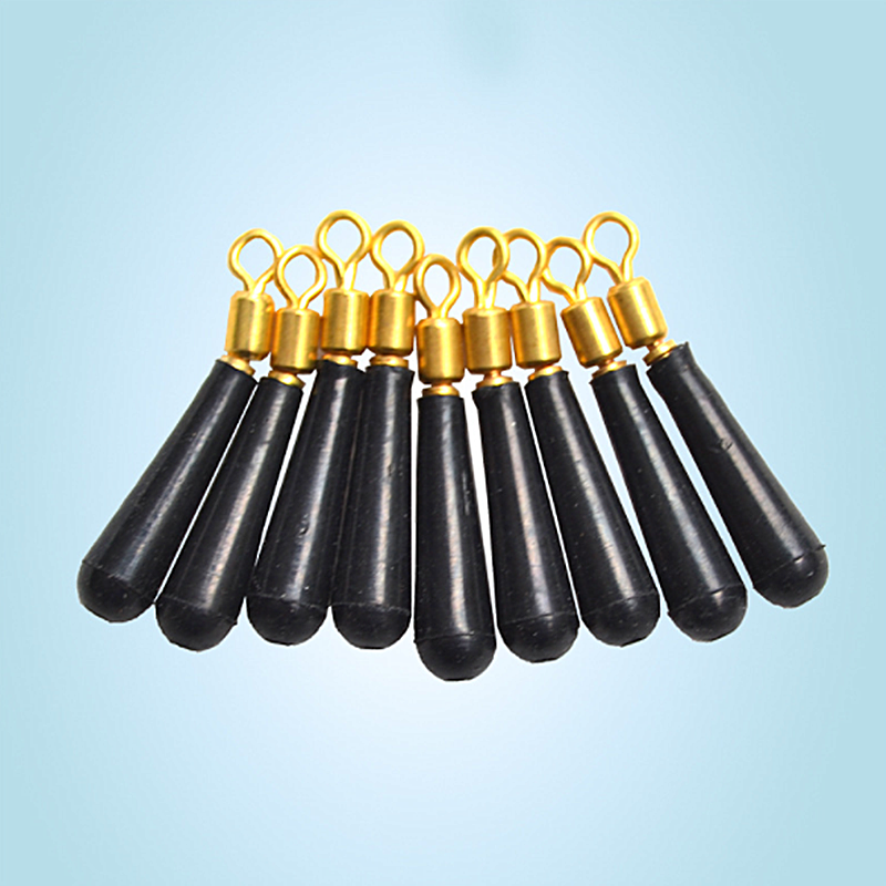 10/15/20/30pcs/lot Fishing Gear Block Rotation Drift Fishing Floats Accessory Bobber Copper+ Rubber Tools