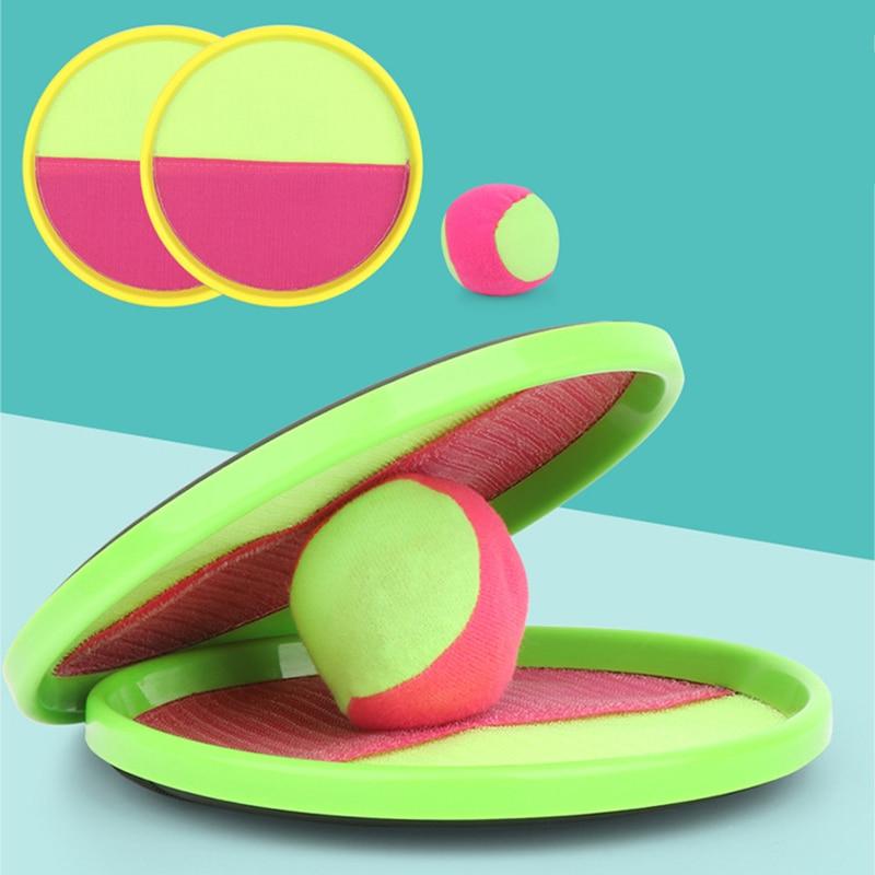 1 ensemble enfants ventouse balle collante jouet Sports de plein air attraper balle jeu ensemble lancer et attraper Parent-enfant interactif jouets de plein air