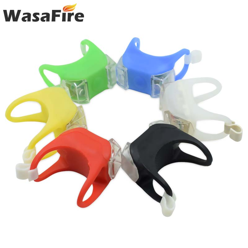 Bike Front Handlebar Lights Silicone LED Head Rear Wheel Light Waterproof Cycling Lamp With Battery Bicycle Accessories