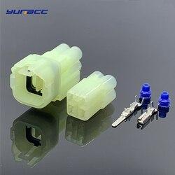 5 комплектов 4 Pin способ Водонепроницаемый HM 090-оптический Кливер Sumitomo женский мужской штекер для датчика кислорода разъем для Changan Suzuki 6180-4181 ...