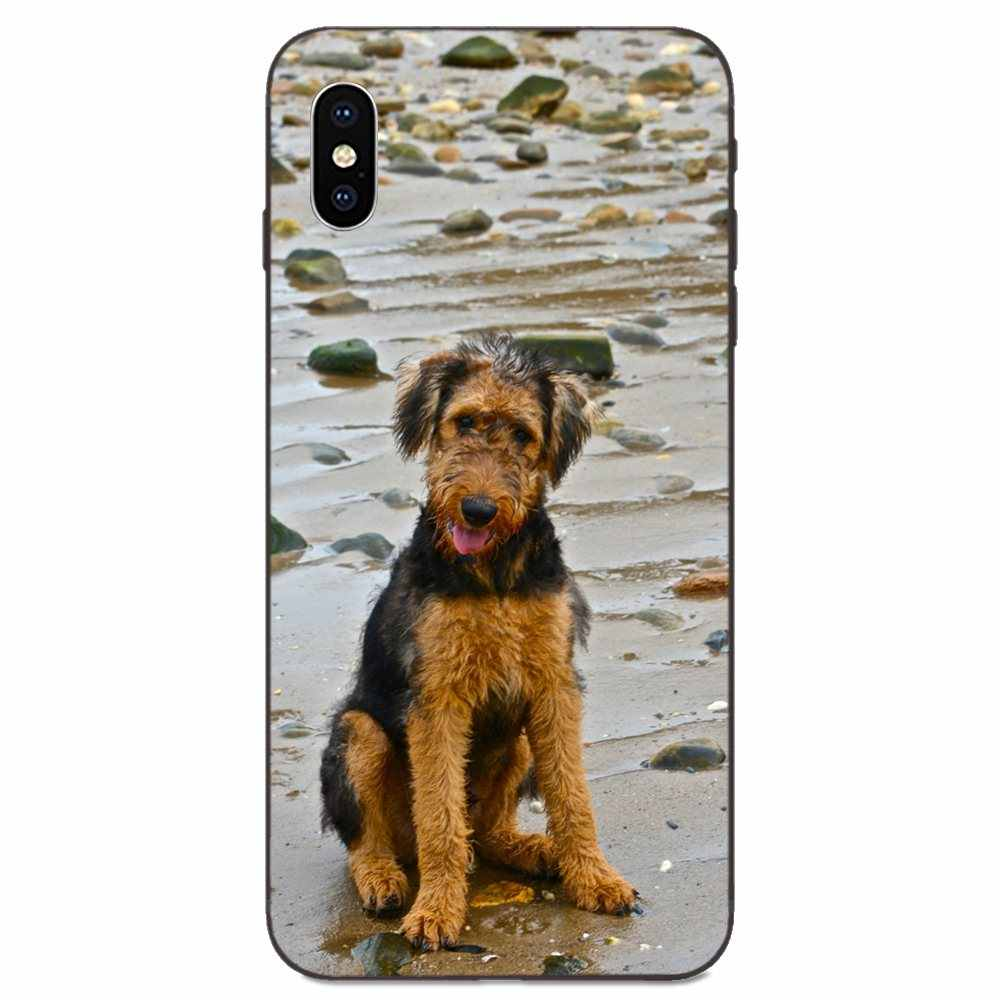 Doux nouveau Style belle Airedale Terrier chien pour Xiao mi mi mi x Max Note 2 2S 3 5X6 6X8 9T SE A1 A2 A3 CC9e Lite Play Pro F1