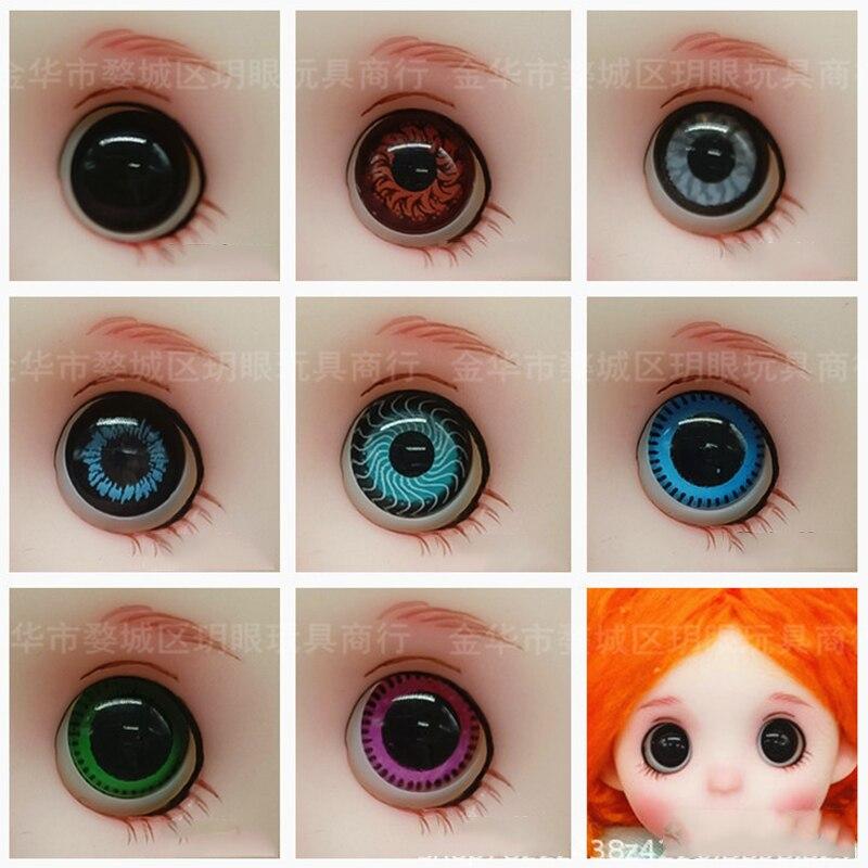 8 пар 10 мм bjd глаза для 16 см ob11 куклы игрушки аксессуары 3D Глаза для куклы DIY игрушка для девочек подарок