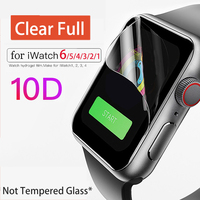 Caja de reloj para Apple Watch iPhone 6 4 3 Caso 42mm 38mm claro Protector de pantalla completa para iWatch 4 serie 6 5 1/2/3/4/40mm 44mm