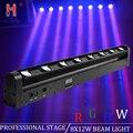DMX 8x12 Вт RGBW 4в1 светодиодная полоса CREE движущаяся панель фар дальнего света клуб DJ сценическое осветительное оборудование