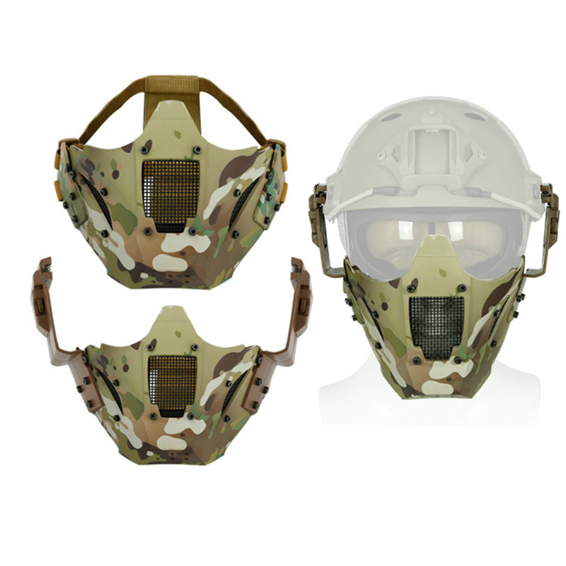 Hunting Tactical Military Mask Airsoft Paintball Outdoor Tactical Masks Shooting Half Face Protective CS Game Masks