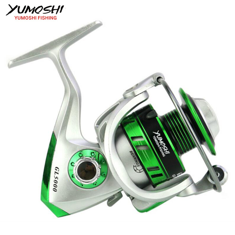 New Fishing coil Wooden handshake  5.5:1 12Ball Spinning Fishing Reel Professional Metal Left/Right Hand Fishing Reel Wheels