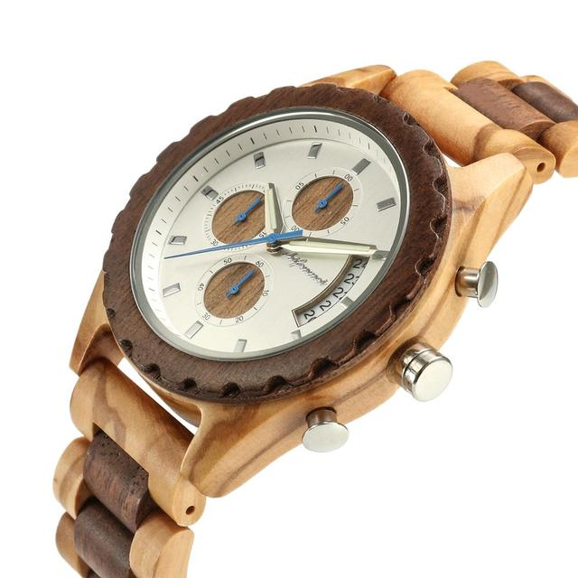 Shifenmei Wooden Watches Men 2019 Military Wooden Multi-Function Date Display Quartz Watches Top Luxury Brand relogio masculino 2