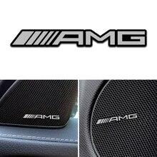 4 шт великолепный стиль, автомобильный аудио автомобиля украшения для MERCEDES BENZ AMG W463 W176 W211 W204 W210 W203 CLA GLA GLK автомобильные аксессуары