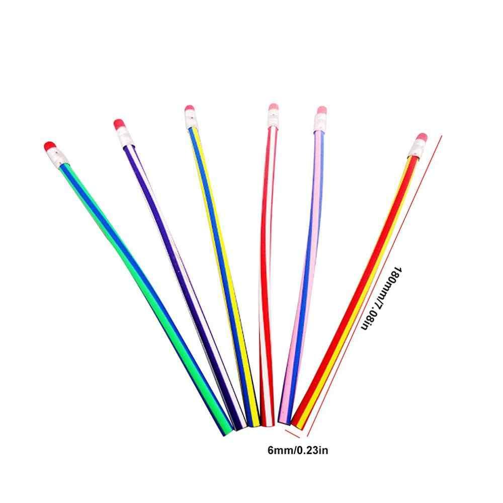 קוריאה Creative מכתבים מתקפל ברציפות רך עיפרון 18cm מעוות עיפרון בית הספר יסודי מתנת הפרס