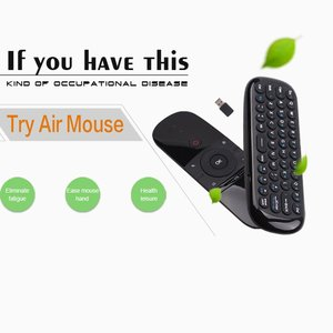 Image 2 - Mini Luft Maus W1 Drahtlose Tastatur 2,4G Name Sensing Fly Air Maus Für 9,0 8,1 Android TV Box/ PC/TV