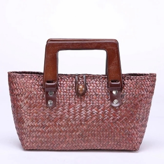 Thai Hand-Woven Bread Straw Bag