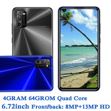 6.72inch Global Smartphones A10 4G RAM+64G ROM Quad Core 8MP+13MP Front/Back Camera Android 6.0 Mobile Phones Celuares Unlocked