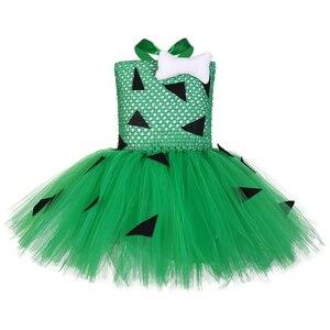Зеленое платье-пачка с галькой для девочек; Детский костюм на Хэллоуин; Детские рождественские платья; Вечерние костюмы для костюмированно...