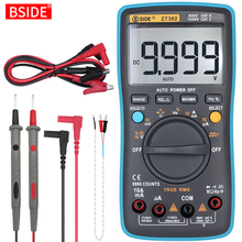 Digitale Multimeter Bside ZT301 302 True Rms Dc/Da Voltmeter Ammeter Multimetro Dmm Weerstand Ohm Cap Hz Temp tester