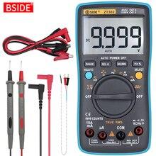 Multímetro Digital BSIDE ZT301 302 True RMS, voltímetro DC/DA, amperímetro, multímetro DMM, resistencia Ohm Cap Hz, probador de temperatura