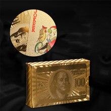 Рекомендуем коллективные игральные карты вечерние игрушки евро доллар дизайн покерные карты Креатив черное золото