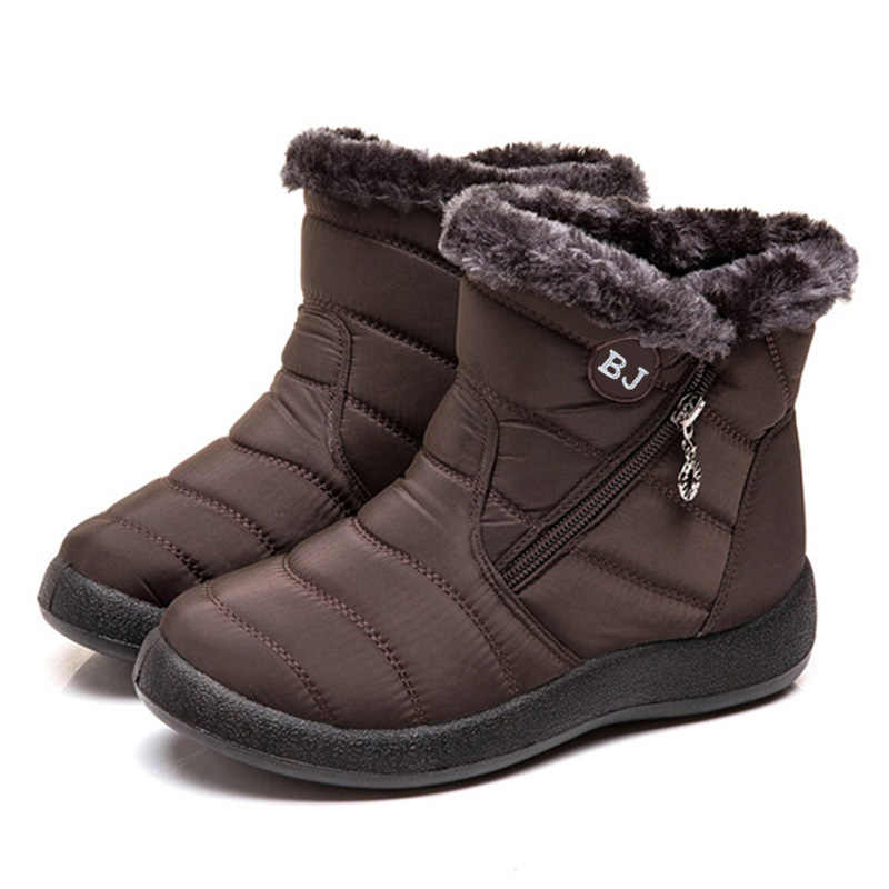กันน้ำบู๊ทส์หิมะฤดูหนาวข้อเท้าอุ่นรองเท้าสำหรับรองเท้าผู้หญิงฤดูหนาวรองเท้าบูทซิป Non-SLIP ฤดูหนาวรองเท้าผู้หญิง Booties