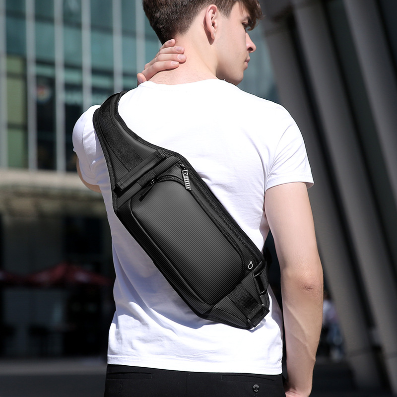 Men's Multi-functional Shoulder Oblique Backpack Fashion Fashion Cool Chest Pack Outdoor Waist Pack Anti-Theft Travel Ride Lugga
