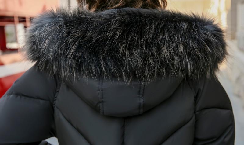 2019 High Quality Winter Jacket Women Hooded Fur Collar Warm Thicken F_B5_16