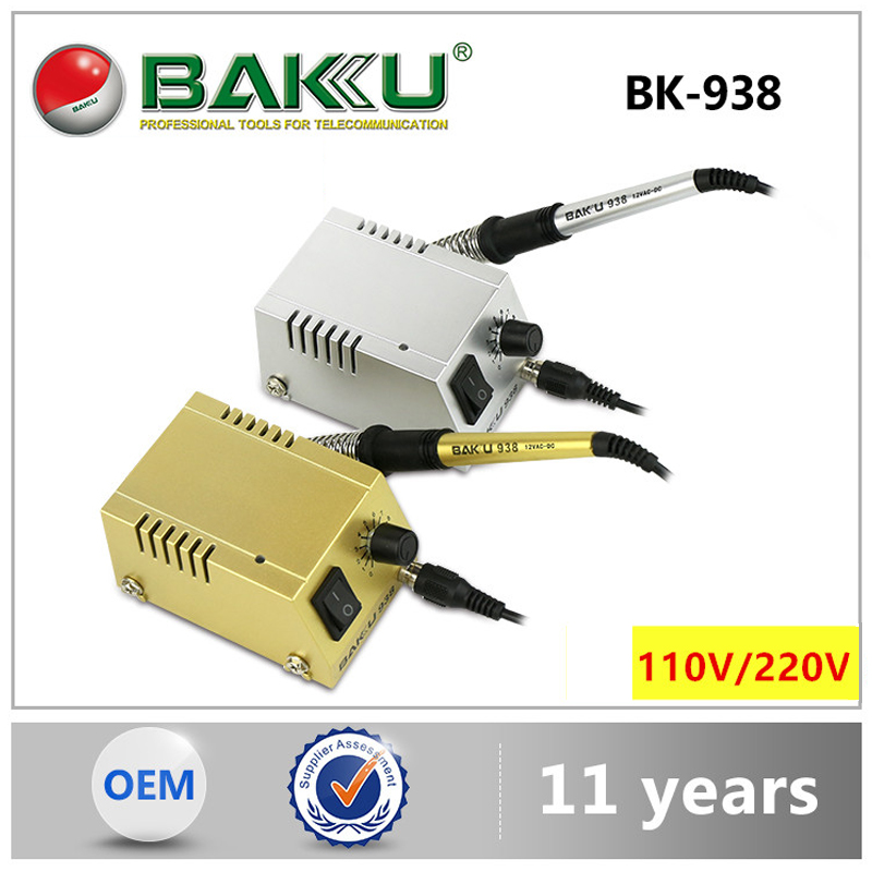 BAKU Soldering Station BK-938 Mini Solder 220V / 110V Fast Heating Soldering Iron For Repair Phone SMD SMT DIP Soldering Work