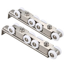 New 304 Stainless Steel Hardware Sliding Doors Pulley Hanging Rail Wheels with Silent Bearing High Load-Bearing Durable Home Har