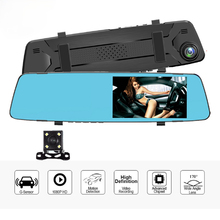 Dash Cam DVR Recorder Auto Dvr 4,3 Zoll Dual Objektiv Recorder 1080P Auto Kameras Spiegel Dual Objektiv Nachtsicht rückspiegel Kamera