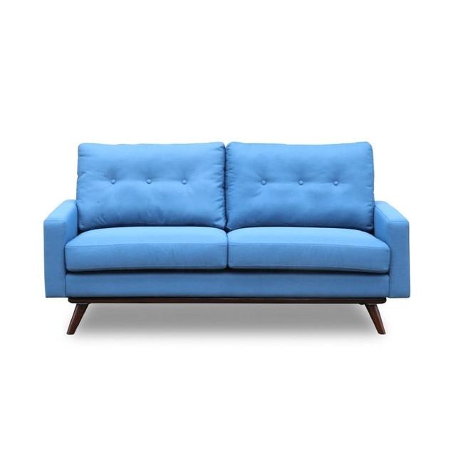 U-BEST Living Room 3 Seat Cinema Velvet Fabric Sofa Set 2