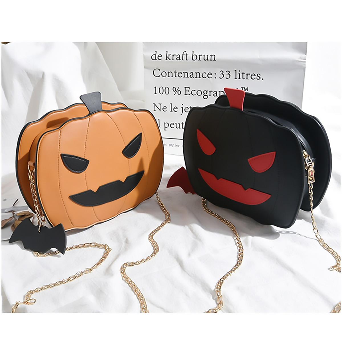Shoulder Bag Pumpkin Bag For Women Pu Leather Creativity Easter Halloween Lamp Handbags New Designed  Cross Body Bags Gift 1