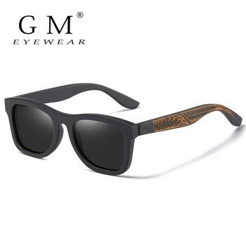 GM Retro Wood Sunglasses Men Polarized Wooden Frame Glasses Women Shades UV400 Lunette De Soleil Homme Femme S1610L gm retro wood sunglasses men polarized wooden frame glasses women shades uv400 lunette de soleil homme femme s1610l
